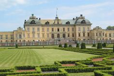 View of the gardens and facade of Drottingholm Palace, Stockholm, #PinStockholm