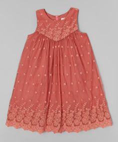 Loving this Blush Rose Embroidered Cheya Dress - Toddler & Girls on #zulily! #zulilyfinds