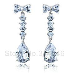 free ship Zircon earrings popular Korean version of the exaggerated retro Austrian crystal earrings $9.40