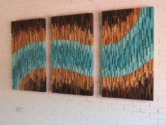 Wood Wall Art Modern Wood Wall Art Large Wall by DanburyDesign