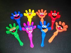 SESAME STREET BIRTHDAY party hand clapper favors by BeyondBalloons, $3.00