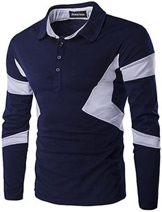 jeansian Men's Casual Slim Fit Long Sleeves Polo T-Shirts…