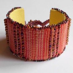 Tapestry Bead Cuff Bracelet - I want to learn to make these!