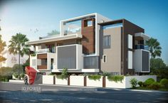A great ultra modern bungalow design gives a complete new style statement to your dream project. Bungalow Haus Design, Duplex House Design, House Front Design, Modern House Design, Bungalows, Modern Architecture House, Architecture Design, Style At Home, Modern Bungalow Exterior