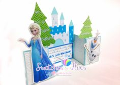Swatches & Hues : Handmade with TLC: Frozen themed gate fold invitation for a 5th birthday party