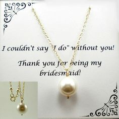 Bridesmaid set pearl bridesmaid necklace 14k gold filled by StarringYouJewelry on Etsy #bridesmaidset #bridesmaidgift #bridalparty