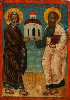Apostles Peter and Paul. Greek Islands, 18th century