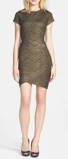 Perfect for a dinner date - Metallic sheath dress