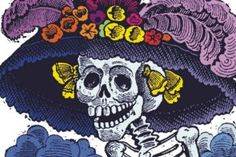 La Calavera Catrina ('The Elegant Skull') 1910 zinc etching by Mexican printmaker José Guadalupe Posada. Inspiration for Liberty Smith murder mystery. Day Of Dead, Mexico Day Of The Dead, Catrina Tattoo, Cz Wedding Bands, Mexican Holiday, Diego Rivera, Mexican Folk Art, Mexican Crafts, Bridal Rings