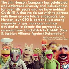 Muppets love everyone!