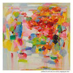 "Sunflower #4, 30""x 30"", oil on canvas. Yangyang Pan"