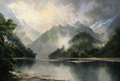 Tim Wilson Landscape Art, Landscape Paintings, Landscapes, New Zealand Art, Nz Art, Thomas Kinkade, Sculpture, Cool Paintings, Art Tutorials