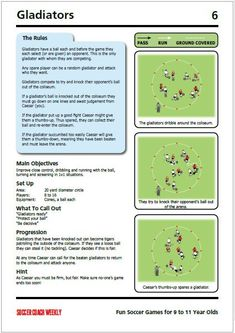 Fun Soccer Games For 9 to 11 Year Olds - Soccer Coach Weekly Soccer Shooting Drills, Soccer Practice Drills, Football Coaching Drills, Soccer Training Drills, Soccer Drills For Kids, Soccer Workouts, Soccer Skills, Kids Soccer, Soccer Sports
