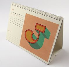 This desk ready calendar contains 12 new type illustrations based on our recent move to sunny Margate the the wonderful, vintage fairground rides and designs weve fallen in love with. The calendar is made up of 13 thick 325gsm A5 uncoated sheets. Along with the beautiful and bold illustrations, each page displays a clear and simple layout of the months dates - we believe in functionality when it comes to products so there is also some space for notations and room to circle important dates…