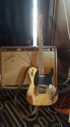 Fender Telecater and Vibroverb - showing slight signs of wear