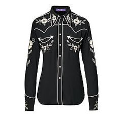 Sydney Embroidered Twill Shirt - Collection Apparel Long-Sleeve…