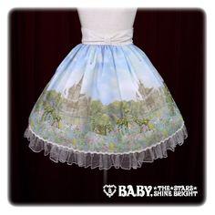 Fairy Topialium ~Trifolium 仕立ての約束の森~柄 スカート/Fairy Topialium ~ Promise in the Forest of Trifolium~ Skirt in Sachs