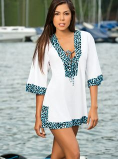 Want! White Wonder Cover-up by Garotas Swimwear