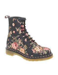 Dr Martens | Dr Martens Flower Print 1460 8-Eye Boots at ASOS - StyleSays