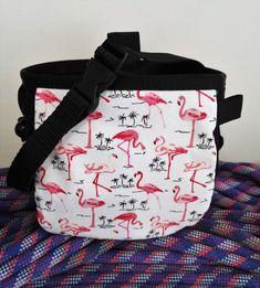 Chalk Bag Flamingos Rock Climbing bouldering bag with pocket and adjustable belt #TrailsRock