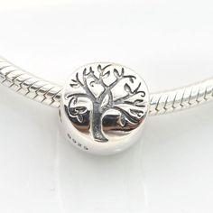 Albero della vita charm bead 100%argento sterling 925 adatta misure Pandora charm Pandora bead Braccialetto europeo STT217 di OceanBijoux su Etsy