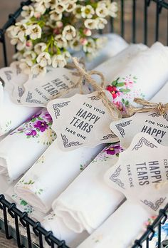 """Happy Tears"" favors - Style Your Soirée"