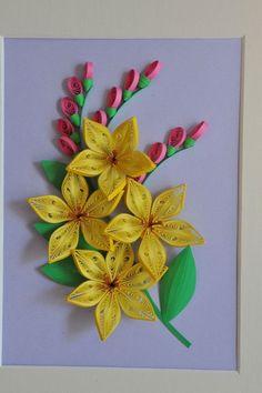 Žlutý květ * quilling