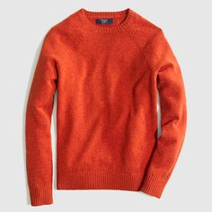 J.Crew Factory (in outlet mall by Card's Stadium) - Factory lambswool crewneck sweater - hthr clay (pic) also like in hthr brown and hthr jade! - $38.00