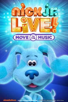 See Blue From Blue S Clues And You In Nick Jr Live Blues Clues Blue S Clues Nick Jr