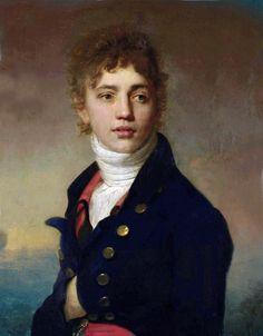 18th c Henri-Pierre Danloux - Portrait of a young man