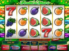 Fruits n Stars play for money. Famous fruit and berry topic is not spared this machine, and  this subject is never boring players, the online slot Fruits`n`Stars quite popular among them. There are 5 reels and 5 paylines, the number of which can be adjusted before the start of each rotation. Because of the special characters