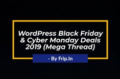 Grab hosting, themes and plugins at huge discounted price. New Year Deals, Cyber Monday Deals, Black Friday Deals, Wordpress