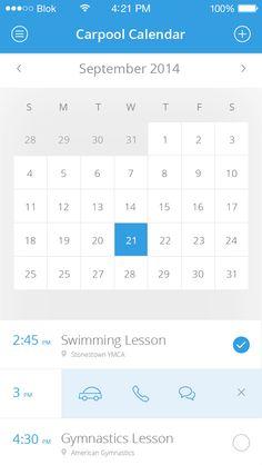 Calendar - by Irina Calender App, Calendar Widget, Calendar Design, Table Calendar, Mobile Web Design, App Design, User Interface Design, Mobile Ui, Web Design Inspiration