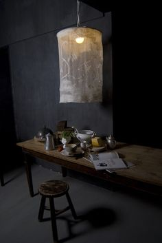 light over serving table