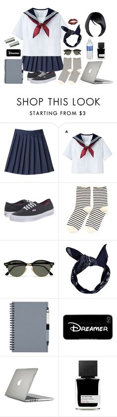 """neither close nor far, this distance is fine"" by annefs1 ❤ liked on Polyvore featuring French Toast, Vans, Hansel from Basel, Ray-Ban, Boohoo, Samsung, Speck and MiN New York"