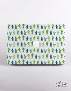 Cactus Pattern MacBook Case Design for MacBook Pro by DessiDesigns