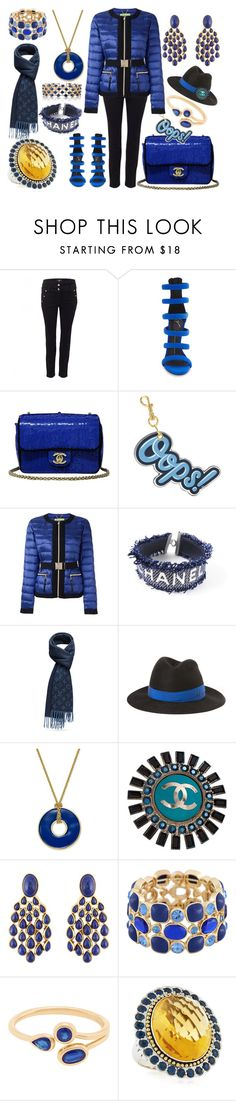 """""""Cold yet sexy"""" by ellenfischerbeauty ❤ liked on Polyvore featuring Versus, Giuseppe Zanotti, Chanel, Anya Hindmarch, Versace, Maison Michel, Charter Club, Aurélie Bidermann, Monet and Lagos"""