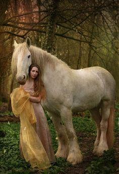 a fair maiden and her golden stead