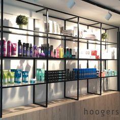 Beauty Salon Interior, Salon Interior Design, Salon Design, Home Office Design, Modern Interior Design, Black Beauty Supply, Beauty Supply Store, Ikea Lack Shelves, Lack Shelf