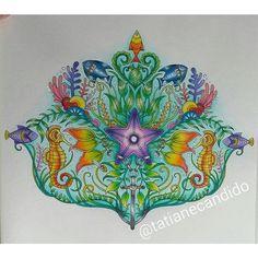 Lindinho!!!!!! @Regrann from @tatianecandido #oceanoperdido #johannabasford #colorido #marcoraffine #coloriage #fundodomar #colorindo#arttherapy #jardimsecreto #florestarencantada #criatividade #instaart #instacoloring #coloring #lostocean #amomuitocolorir #colorindooinstagram #livrosinterativos #artecomoterapia #Regrann