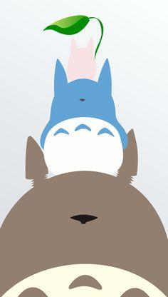 Totoro #FlatDesign #minimalist