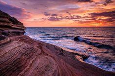 Sunrise over Cap d'Agde's cliffs