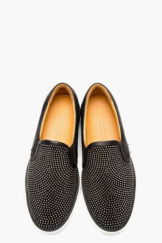 f5f11f488111dd JIMMY CHOO Black leather studded GROVE slip-on shoes Loafer Sneakers