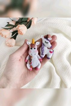 Unicorn brooch crochet pattern, amigurumi animal brooches crochet tutorials, pdf/eng You are in the right place about tricot et crochet Here we offer you the. Crochet Gifts, Cute Crochet, Crochet Dolls, Knit Crochet, Tapestry Crochet, Crochet Animal Patterns, Amigurumi Patterns, Crochet Brooch, Crochet Unicorn