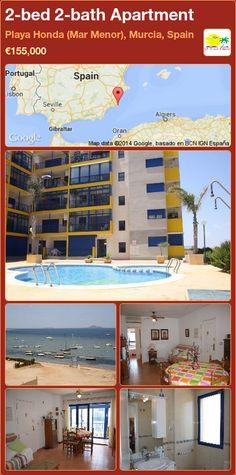 2-bed 2-bath Apartment for Sale in Playa Honda (Mar Menor), Murcia, Spain ►€155,000