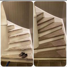 Her er det kontaktplast fra i en trapp