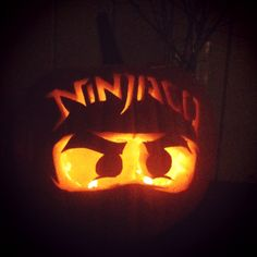 Lego ninjago pumpkin carving