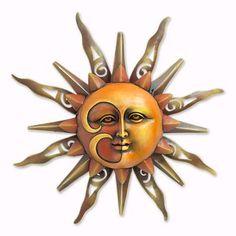 Iron Wall Sculpture Mysterious Sun