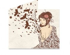 Dynomighty Artist Collective: Come to life by DesignsbyReg Nature, Woman, Birds, flowers, leaf, kimono