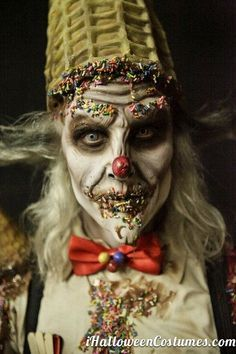 creepy vintage halloween makeup - Google Search